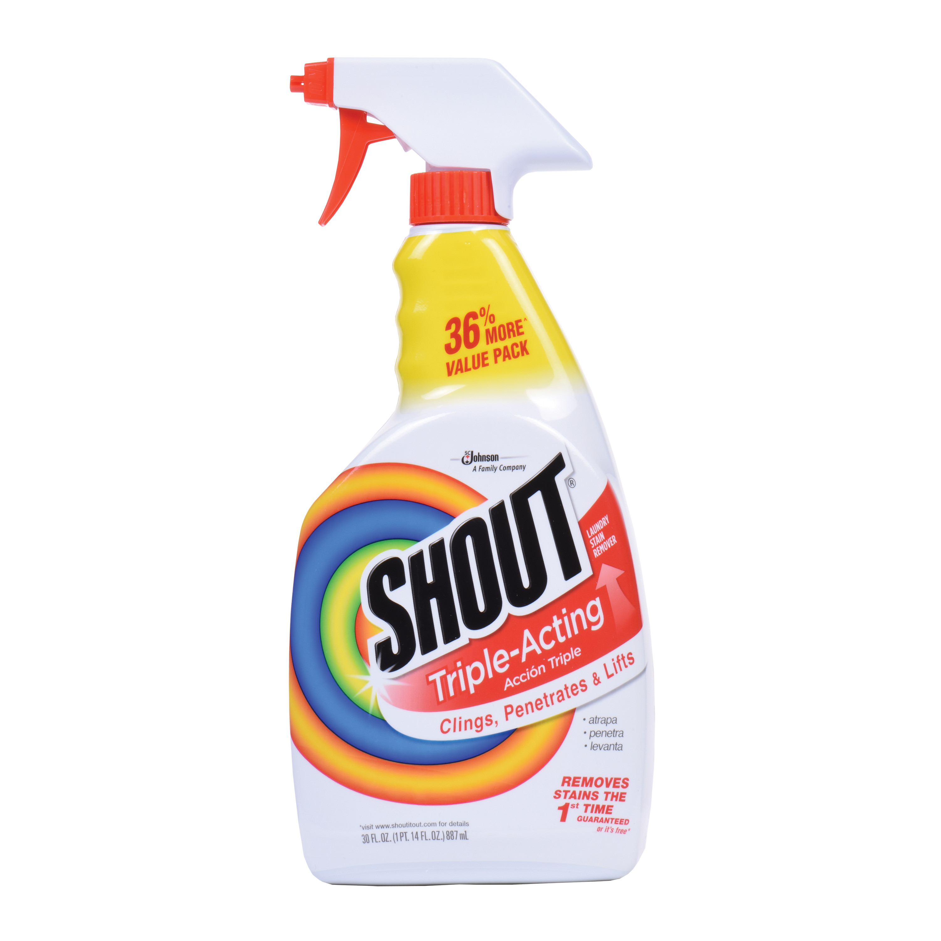 Shout Triple-Acting Stain Remover Spray 30 Fluid. Ounces.