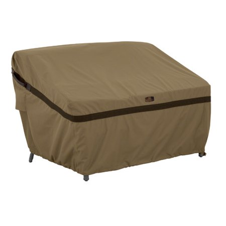 Classic Accessories Hickory Patio Sofa Loveseat Furniture Storage Cover, Small, Tan