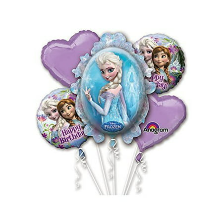 Frozen Birthday Balloon Bouquet Multi-Colored