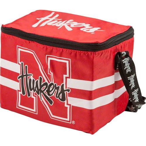 NCAA - Nebraska Cornhuskers Lunch Bag: 6 Pack Zipper Cooler