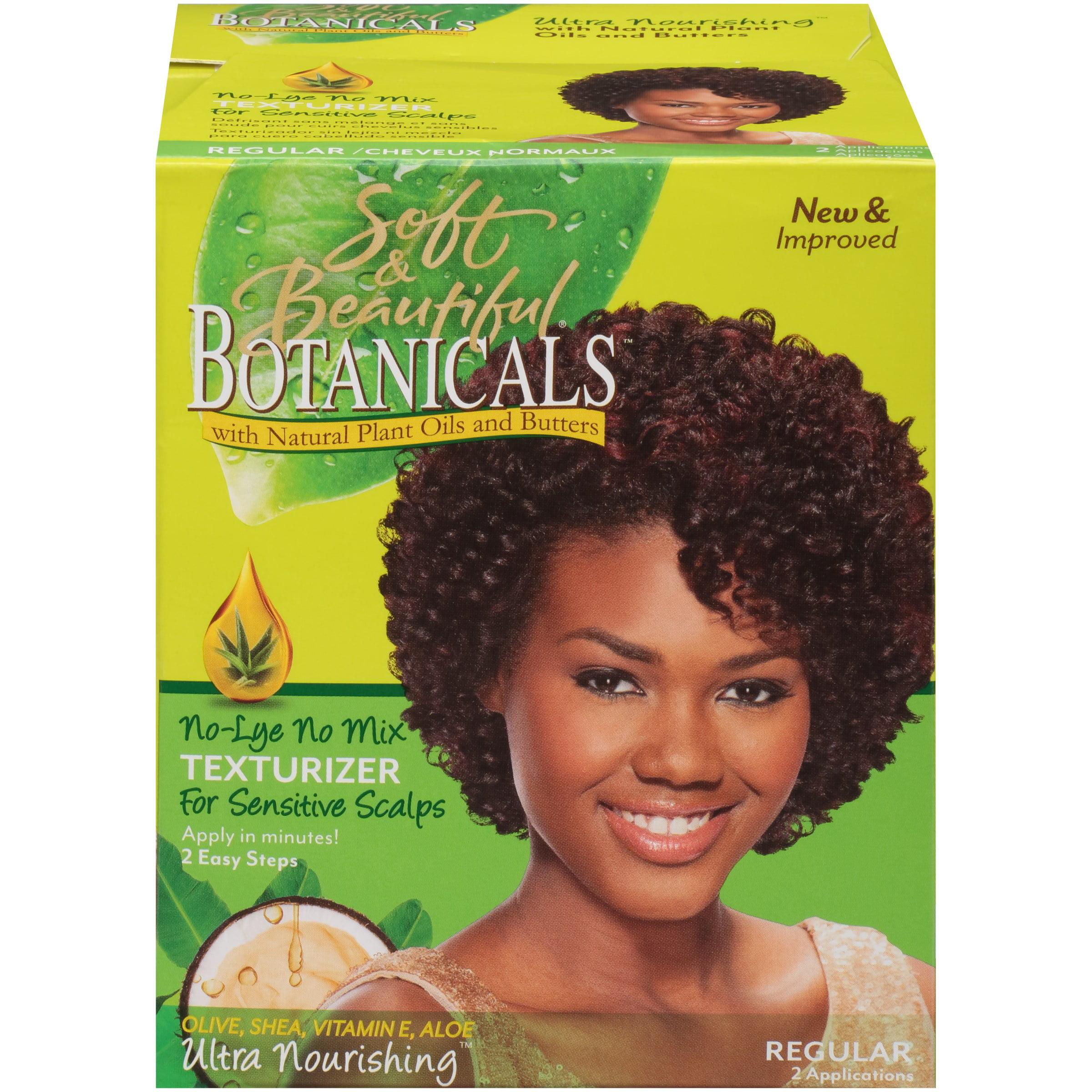 Soft Beautiful Botanicals Regular No Lye Mix Texturizer For Sensitive Scalps Box