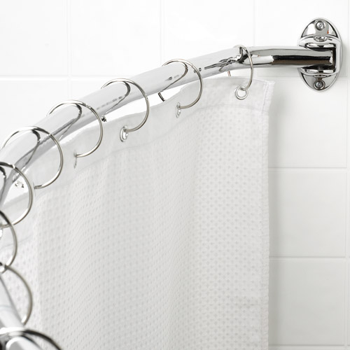 Canopy Curved Hotel Shower Rod, Chrome