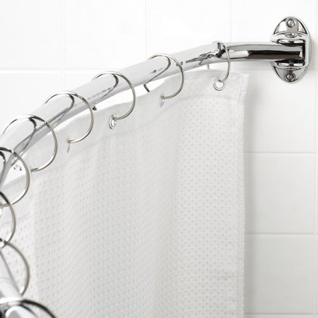 Canopy Curved Hotel Shower Rod Chrome Walmart Com