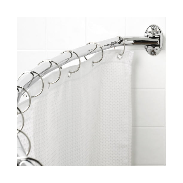 Canopy Curved Hotel Shower Rod Chrome Walmart Com Walmart Com