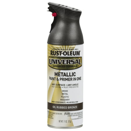 - (3 Pack) Rust-Oleum Universal All Surface Metallic Oil Rubbed Bronze Spray Paint and Primer in 1, 11 oz