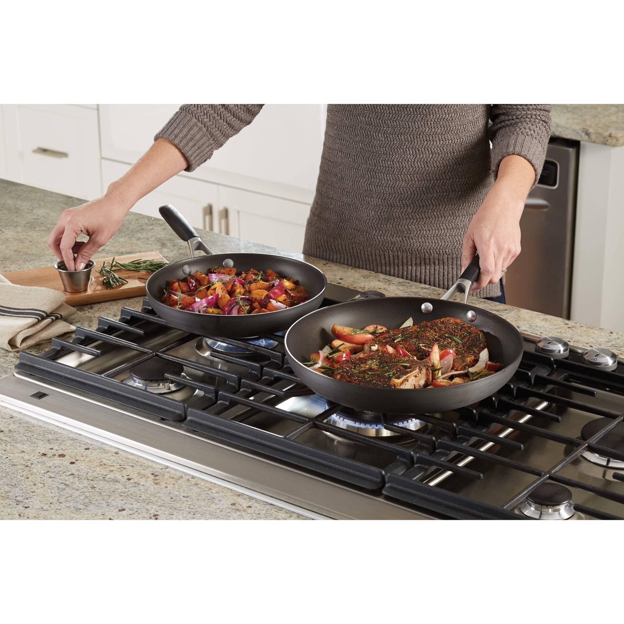 Select By Calphalon Pan Combo Set Hard Anodized Nonstick 10 12 Fry Kitchen