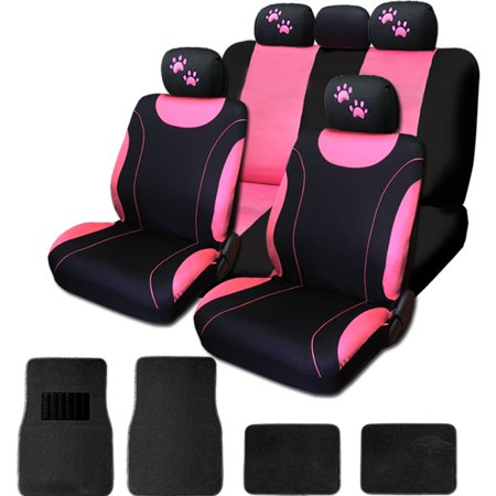 New 12 Pieces Flat Polyester Sleek Design Black And Pink Front And