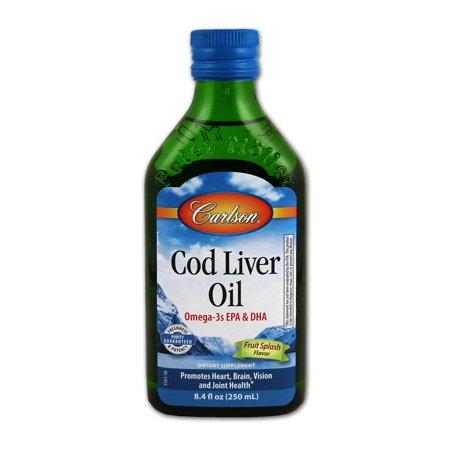 Cod liver oil fruit splash carlson laboratories 8 4 fl oz for Cod fish walmart