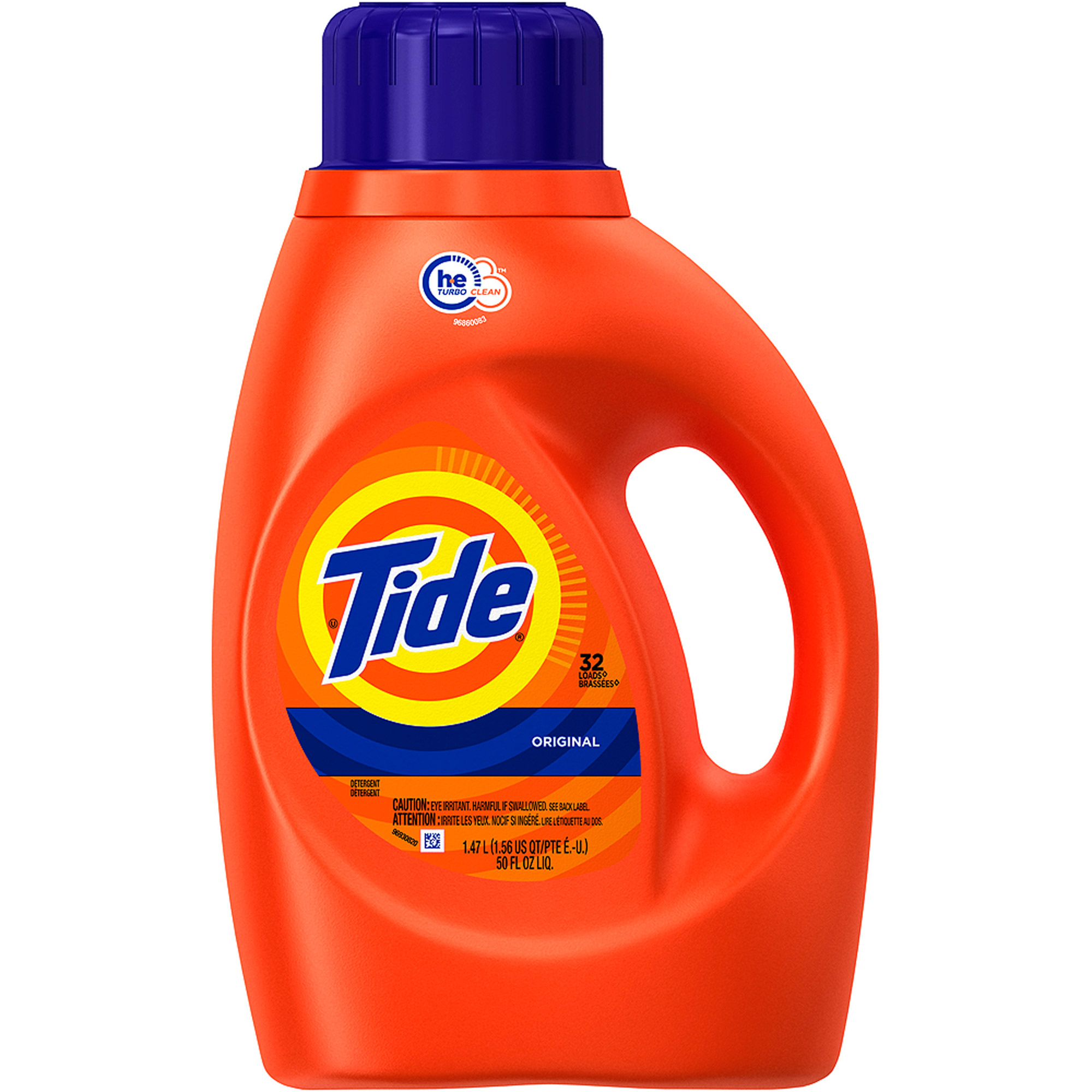 Tide Original Scent HE Turbo Clean Liquid Laundry Detergent, 32 Loads 50 oz
