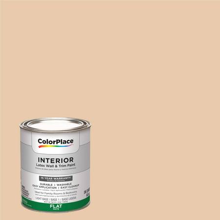 ColorPlace, Interior Paint, Orange Pekoe, # 00YY 67/212, Flat, Quart