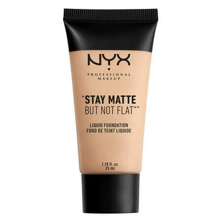 NYX Professional Makeup Stay Matte But Not Flat Liquid Foundation, Light