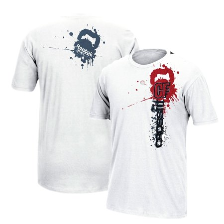 6e947adb Reebok CrossFit Splashed Paint Logo Men's White T-Shirt - Walmart.com