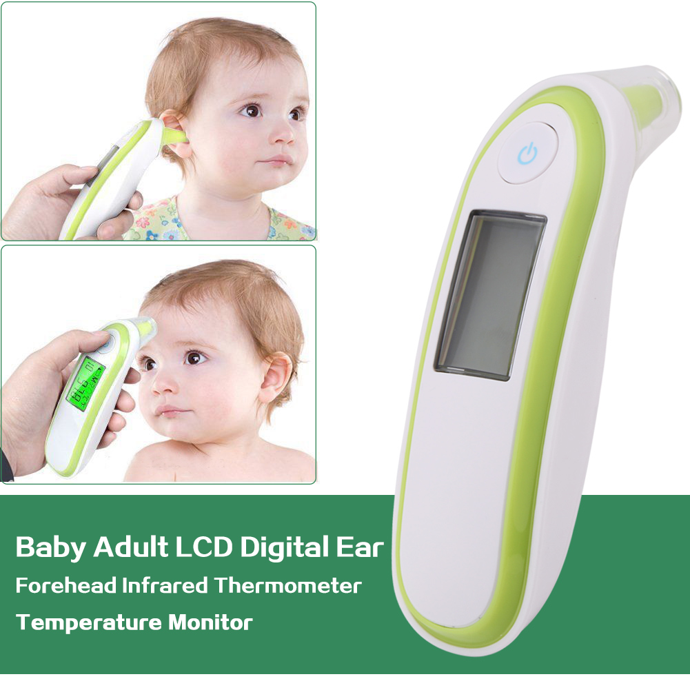 Baby Adult LCD Digital Ear Forehead Infrared Thermometer Temperature Monitor,Infrared Thermometer, Ear Thermometer