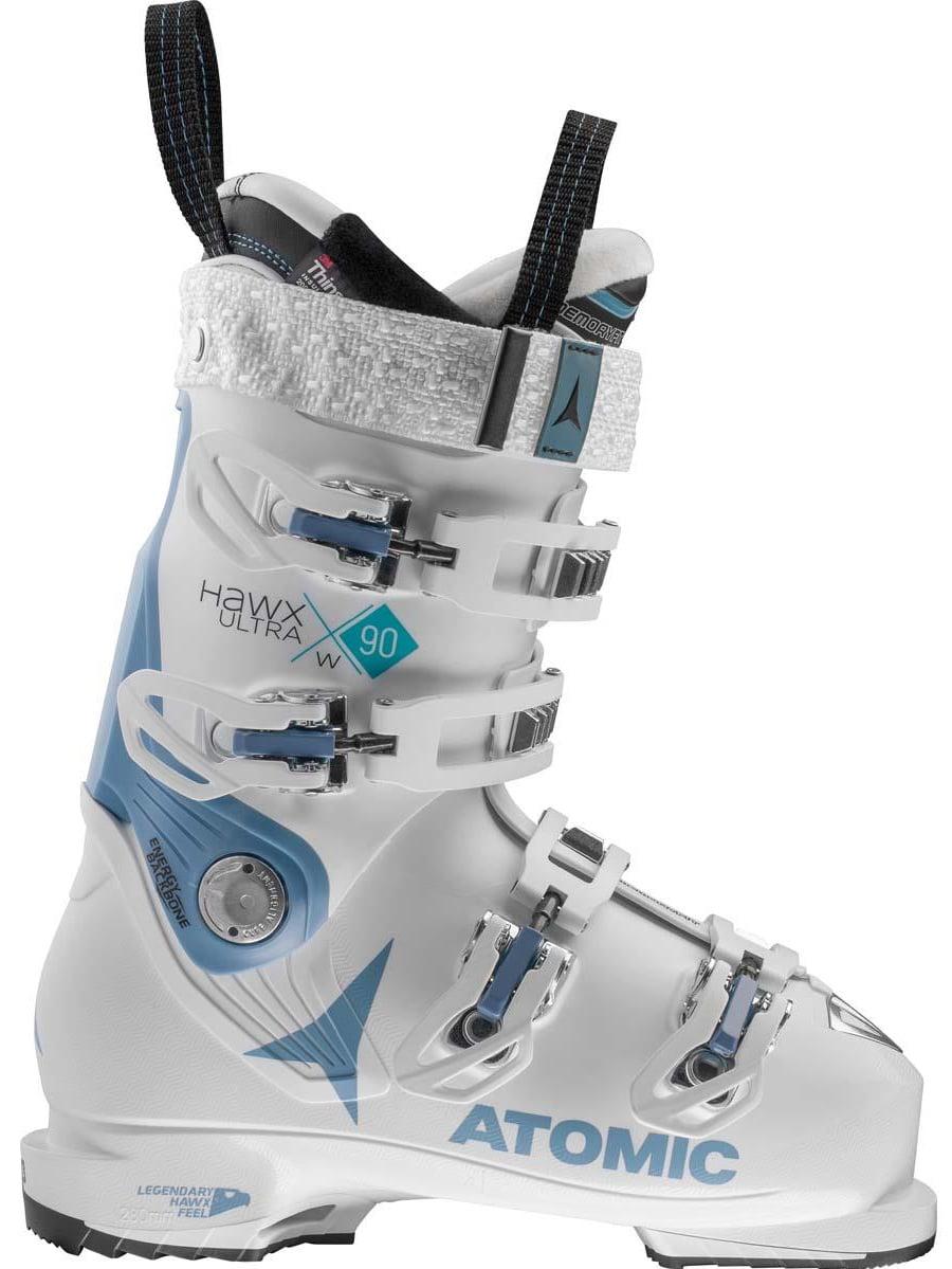 Atomic Women's Hawx Ultra 90 Ski Boots 2018 White/ Denim Blue 22/225
