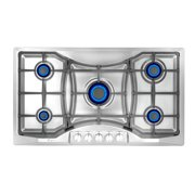 """Empava 36"""" Gas Stove Cooktop with 5 Italy Sabaf Sealed Burners NG/LPG Convertible(36GC24) in Stainless Steel"""