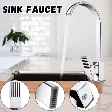 Square Single Lever Sink Faucets Modern Hot Cold Water Mixer Tap