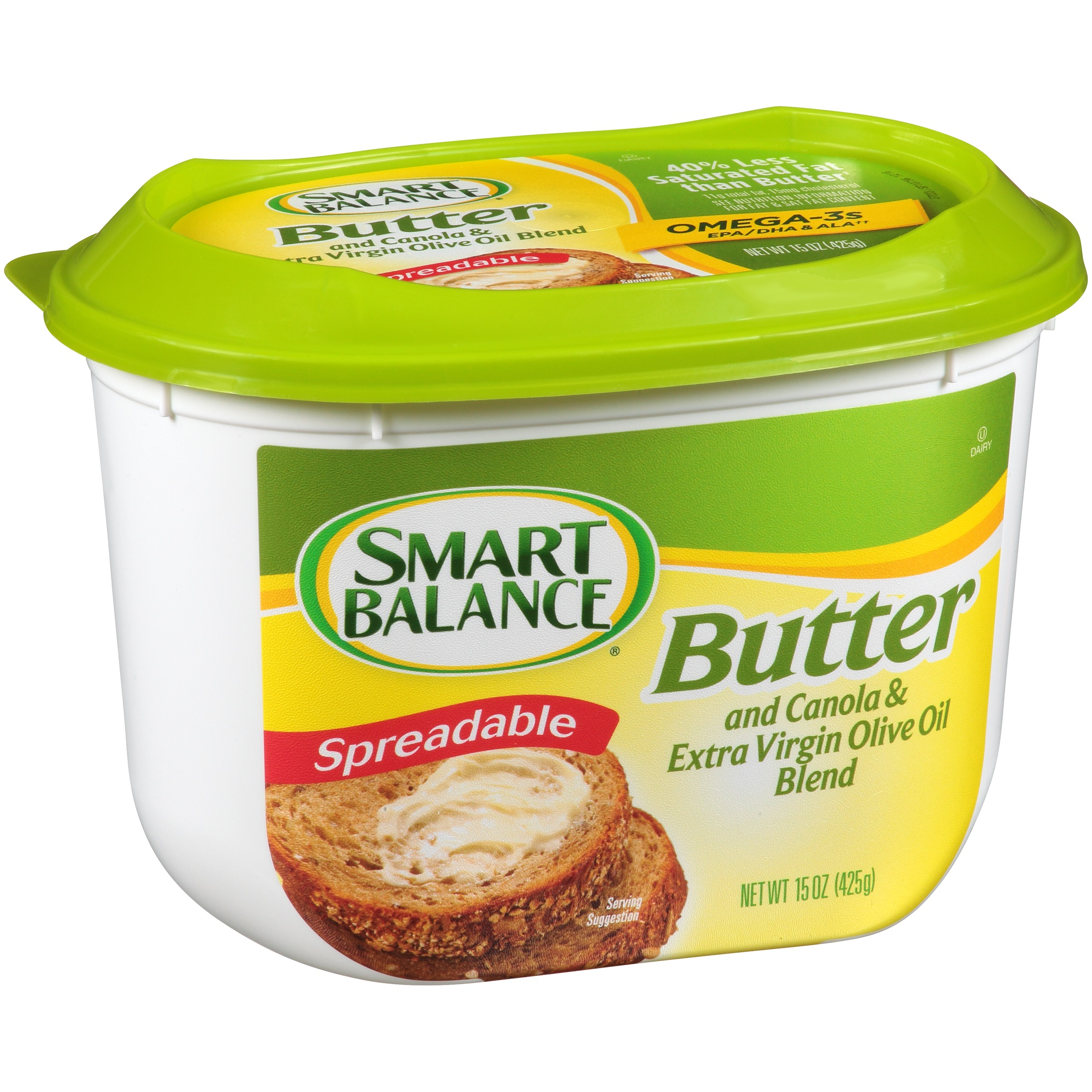 Smart Balance® Spreadable Butter and Canola & Extra Virgin Olive Oil Blend 15 oz. Tub