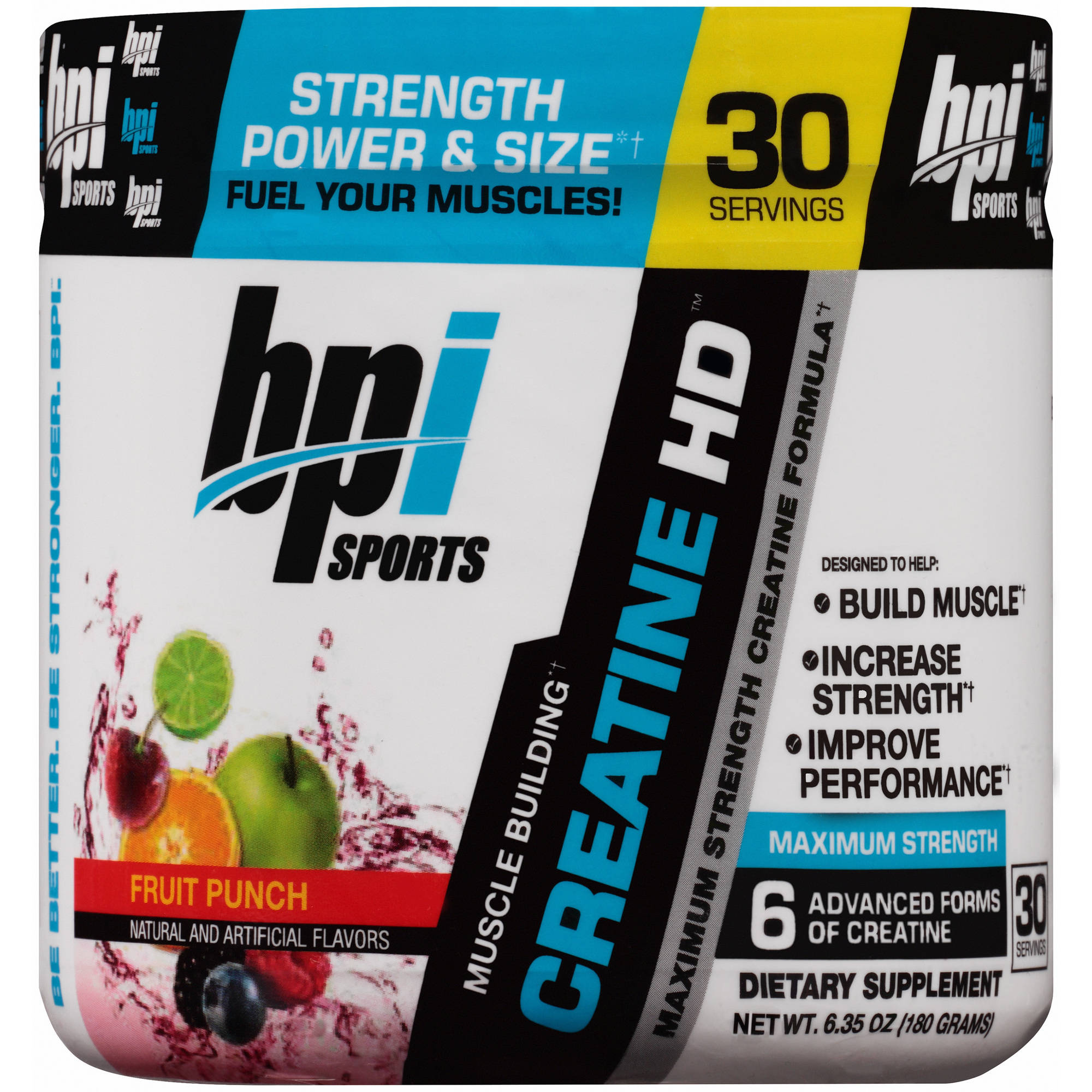 BPI Sports Fruit Punch Creatine HD Dietary Supplement Powder, 8.82 oz