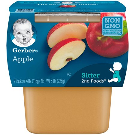 Make Healthy Baby Food (Gerber 2nd Foods Apple Baby Food, 4 oz. Tubs, 2 Count (Pack of 8) )