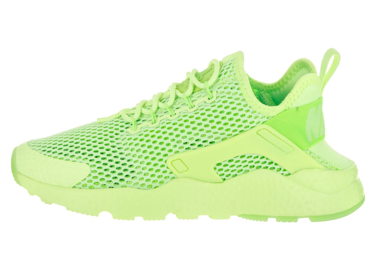 Womens Nike Air Huarache Run Ultra Breathe Ghost Green Electric Green