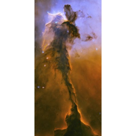 Artists painting of the stellar spire within M16 the Eagle Nebula Canvas Art - Carlyn IversonStocktrek Images (10 x 20)