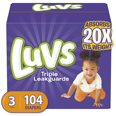 Luvs Triple Leakguards Diapers Size 3 104 Count