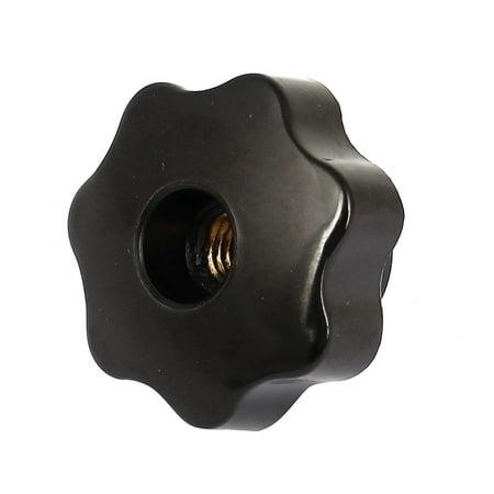 Plastique Trou Traversant Star T¨ote Bouton De Serrage Prise M10 x 40mm Noir - image 2 de 2