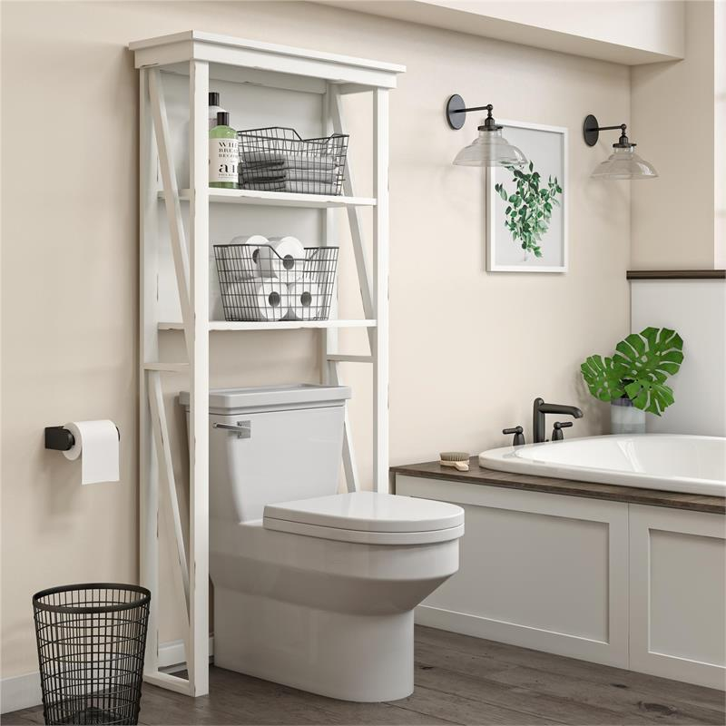SystemBuild Crestwood Over the Toilet Storage Cabinet in ...