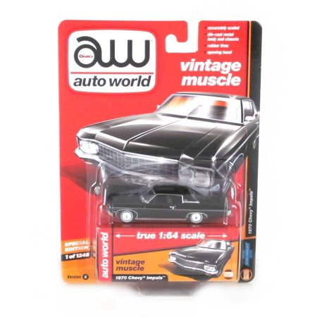 Vintage Muscle: 1970 Chevy Impala (Black) 1/64 (1970 Chevy)