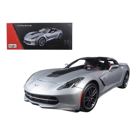 2014 Chevrolet Corvette Stingray C7 Z51 Silver Exclusive Edition 1 18 Diecast Model Car By Maisto