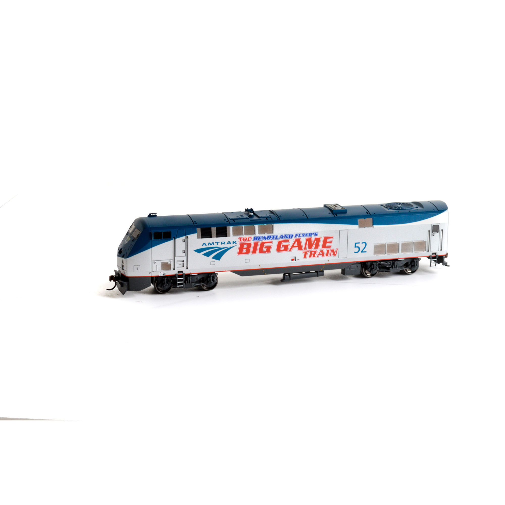Athearn 88749 HO Amtrak/Phase V Big Game Train AMD103/P42...
