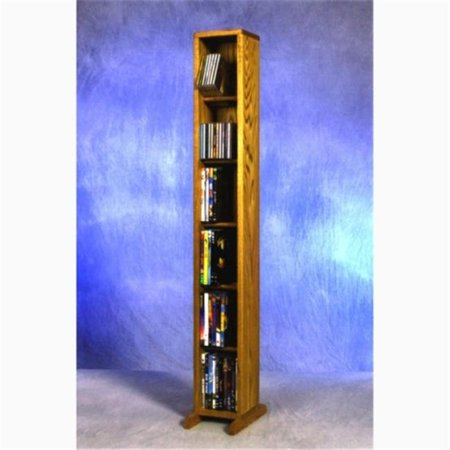 Wood Shed 615 Combo Solid Oak 6 Row Dowel CD-DVD Cabinet Tower