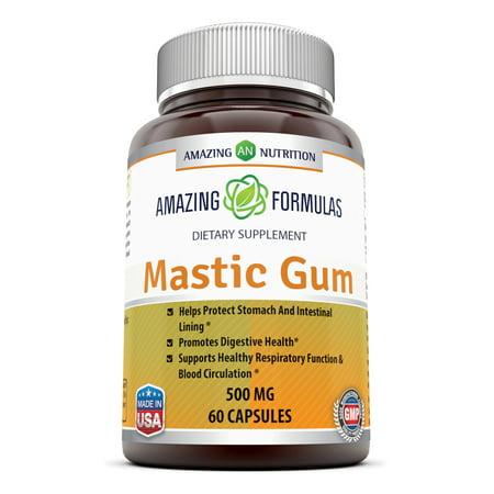 Amazing Formulas Mastic Gum 500 Mg 60 Capsules Formula Herbal Blend 60 Capsules