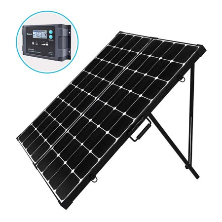 Renogy 200 Watt Eclipse Monocrystalline Portable Solar Suitcase with Voyager Waterproof Charge
