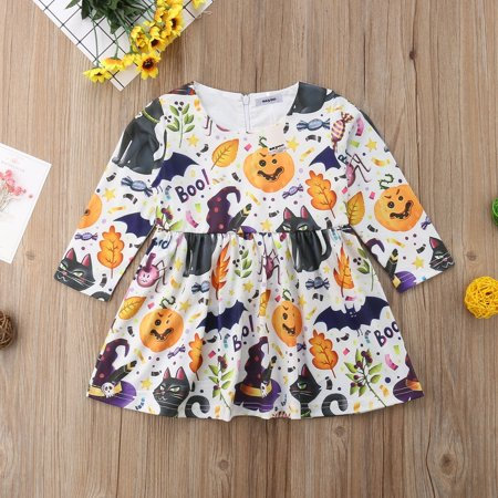 Baby Girls Halloween Pumpkin Pageant Party Formal Tutu Dress Casual Clothes