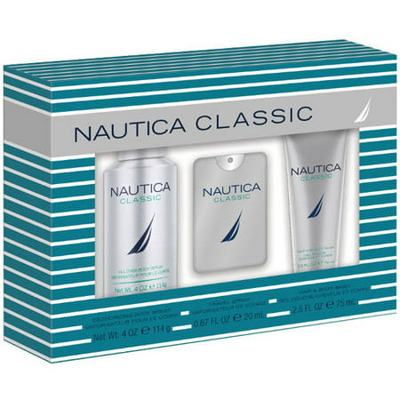 Nautica classic mens bath gift set 3 pc for Mens bath set