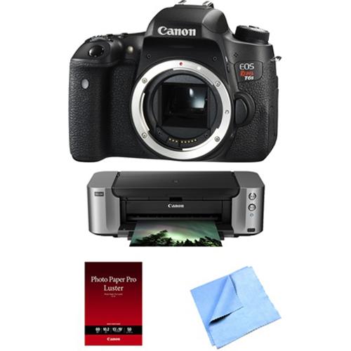 Canon EOS Rebel T6s 24.2MP DSLR Camera, 32GB, Printer Kit...
