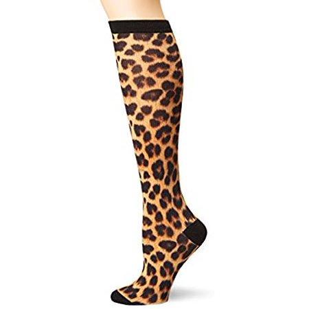 Leopard Knee High Socks - Women's Knee High Socks - K Bell - Leopard 360 Print Black