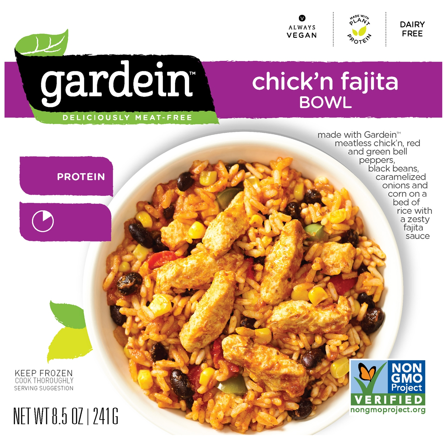 Gardein™ Chick'n Fajita Bowl Frozen Entree 8.5 oz. Box
