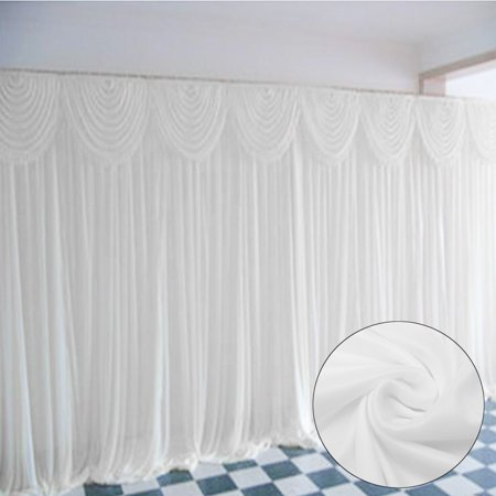 Meigar Wedding Stage Backdrop 118''x118'' Photography Background Draping Swags drape Curtains Valentine's Day