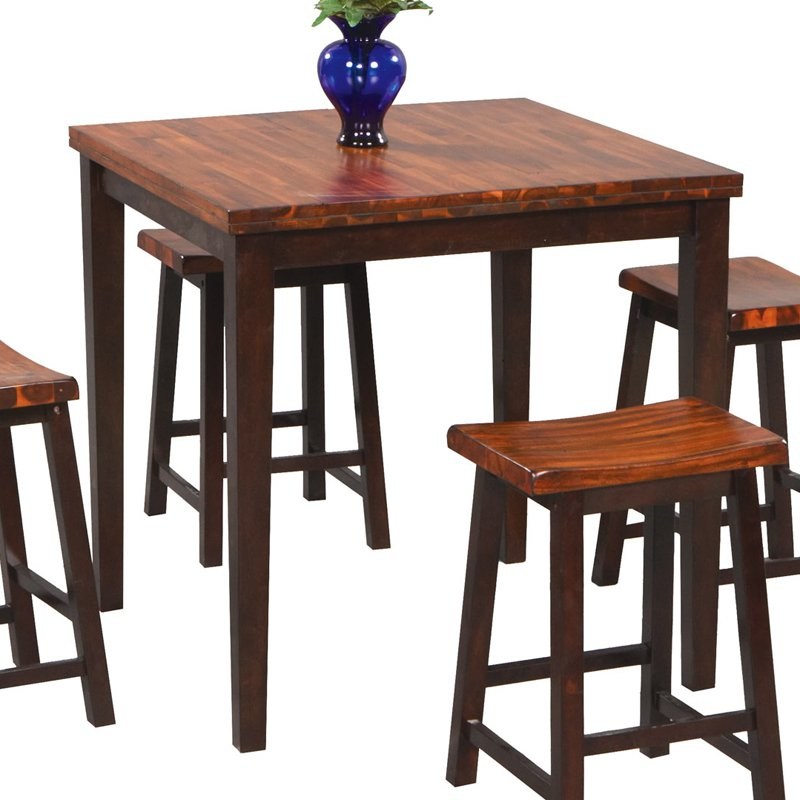 Winners Only Fifth Avenue 5 Piece Square Counter Height Dining Table With 4  Stools