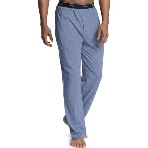 Hanes Big Men's Solid Jersey Pants with Exposed Logo Elastic