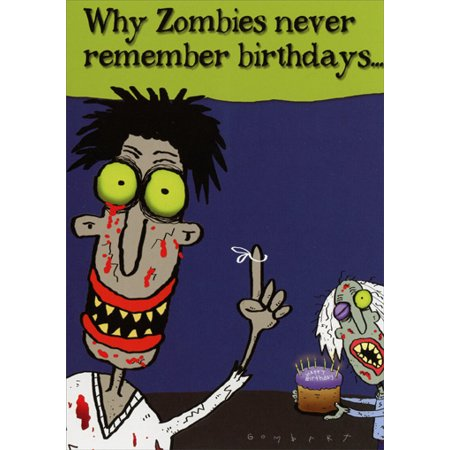 Oatmeal Studios Zombie Birthday Funny / Humorous Belated Birthday Card