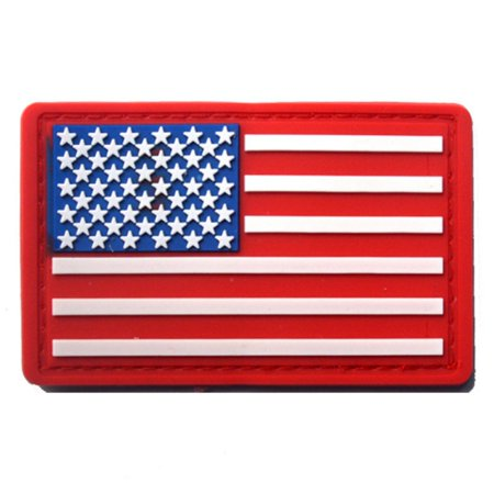 Patch Yellow T-shirt - Esho American Flag Embroidered PVC Badge Apparel Patches Armband 3.15x1.97