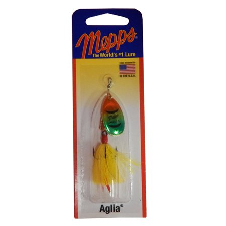 Mepps aglia size 2 dressed spinner bait 1 6 oz firetiger for Walmart fishing spinners