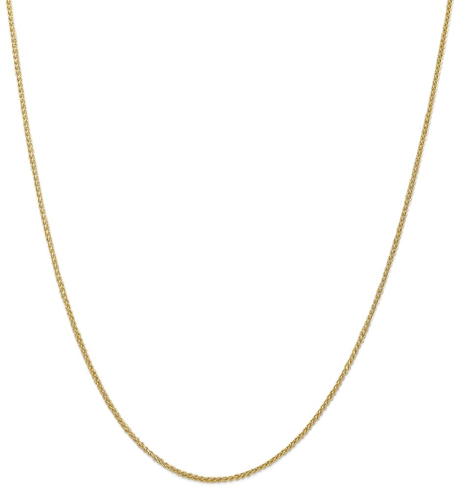 ICE CARATS 14kt Yellow Gold 1.55 Mm Link Wheat Chain Necklace 20 Inch Pendant Charm Spiga Fine Jewelry Ideal Gifts For... by IceCarats Designer Jewelry Gift USA