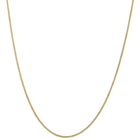 (ICE CARATS 14kt Yellow Gold 1.55 Mm Link Wheat Chain Necklace 20 Inch Pendant Charm Spiga Fine Jewelry Ideal Gifts For Women Gift Set From Heart)