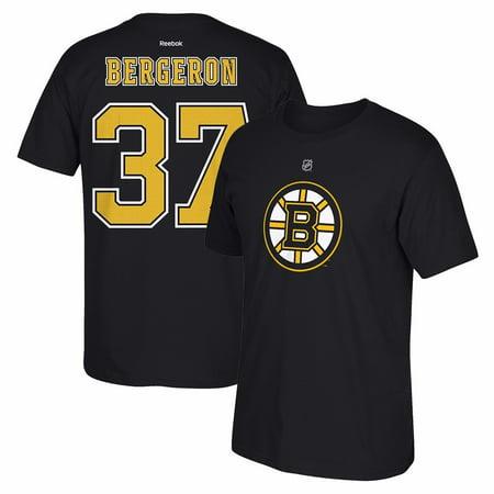 - Patrice Bergeron Reebok Boston Bruins Premier Player Jersey Black T-Shirt Men's