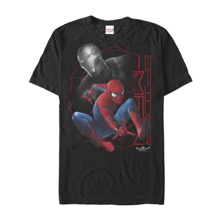 Marvel Men's Spider-Man Homecoming Iron Man Grayscale T-Shirt](Mens Homecoming)