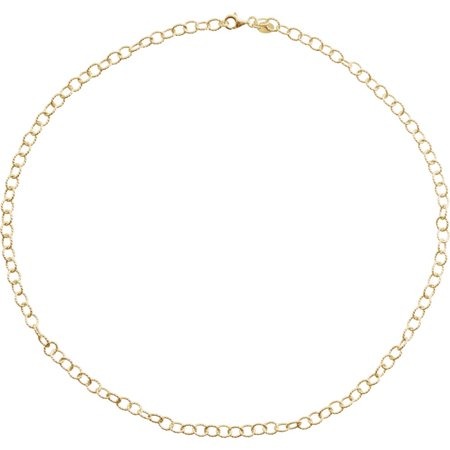 24k Gold-Flashed 7 Inch Knurled Cable Bracelet - 3.0 Grams